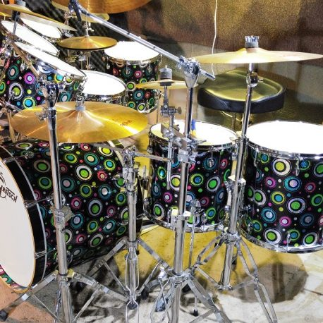 """I have received the wrap and installed on my drums. The biggest problem is I cannot get pictures that justify the beauty and sparkle. I attached a few pics (not any as good as in person). Your wrap is fantastic and your customer skills awesome and the great communication and speed of delivery.  Thank you guys so much for everything."""