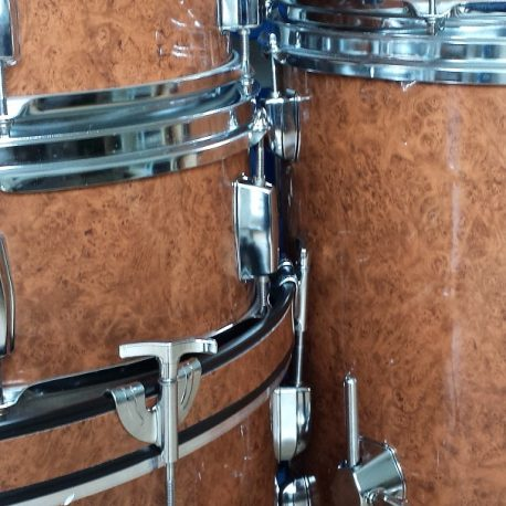 Walnut Burl Wood Grain Drum Wrap