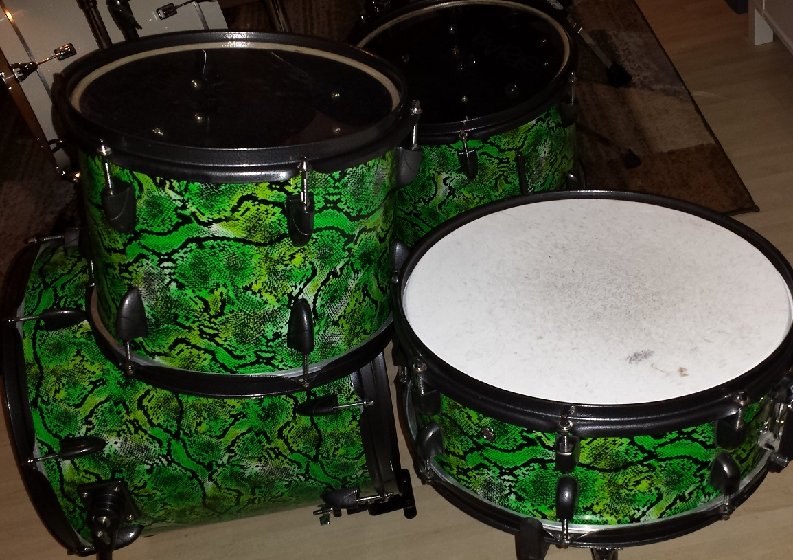 Snake Skin Unique Drum Wrap
