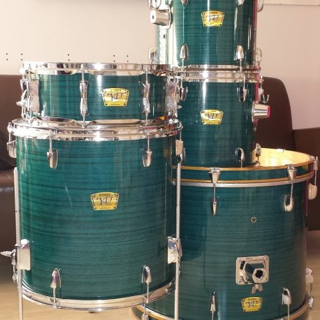 Blue Wood Wood Grain Drum Wrap