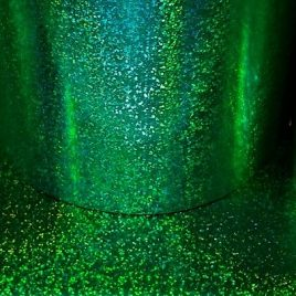 Green Holo-Prismatic Glitter Drum Wrap