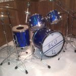 Pacific Blue Prismatic Sparkle Drum Wrap