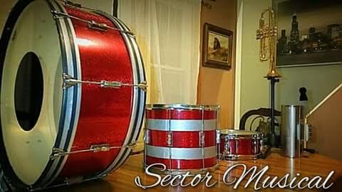 Deep Red Glitter Drum Wrap