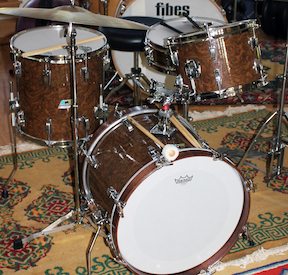 Curly Walnut Drum Wrap