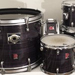 Deep Purple Wood Grain Drum Wrap
