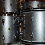 Silver Sparkle Drum Wrap