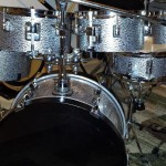 Silver Pearl Black Onyx Drum Wrap