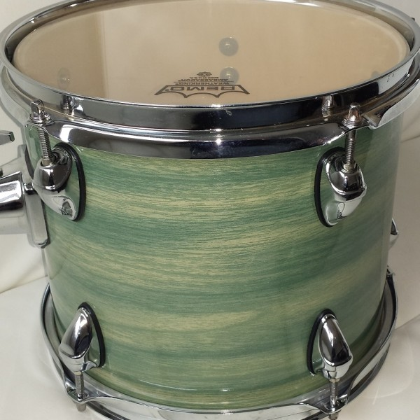 Olive Stain Wood Grain Drum Wrap