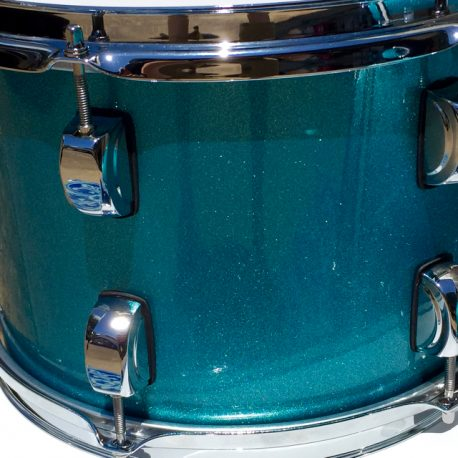 Lagoon Blue Sparkle Drum Wrap