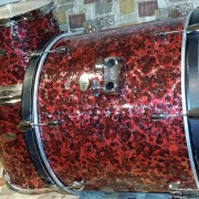 Red Rose Carnage Pearl Drum Wrap