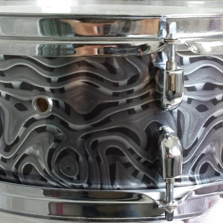 Alien Omelette Chrome Drum Wrap