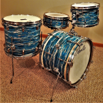 Blue Oyster Pearl Drum Wrap
