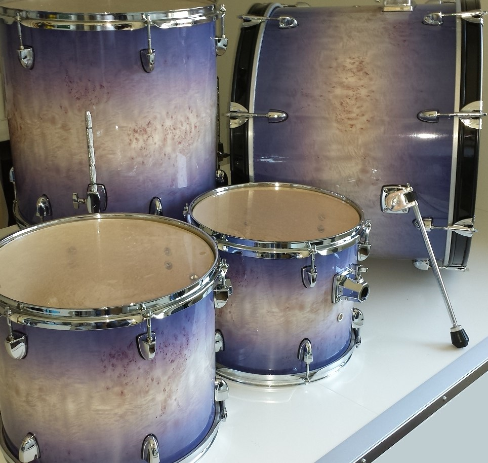 Karelian Birch Fade Custom Drum Wrap