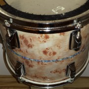 Figured Ash Burl Drum Wrap with Inlay