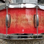 Bazinga Bubinga Drum Wrap with added red fade