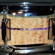 Light Bubinga with Inlay Strip Drum Wrap