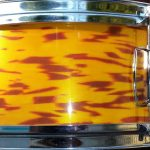 Yellow Tiger Pearl Drum Wrap