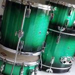 Green Glitter Burst Drum Wrap
