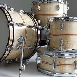Custom Woodgrain Drum Wrap
