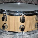 Custom Teak wood Drum Wrap