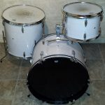 White Wedding Wood Grain Drum Wrap