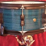 Pacific Blue Wood Grain Drum Wrap