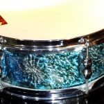 Cosmic Radiation Blue Pearl Drum Wrap