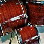 Mahogany Vortex Drum Wrap