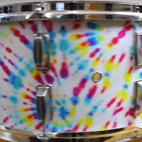 Custom Tye Dye Drum Wrap
