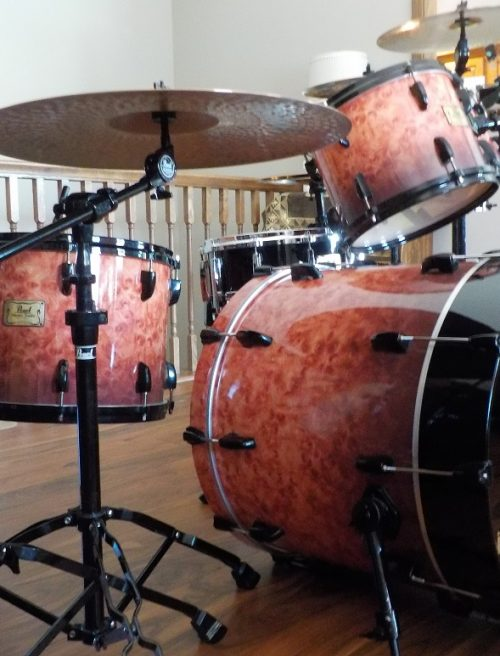 Premium Elmwood Burl with Red Stain & Black Fade
