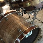 Zebrawood Wood Grain Drum Wrap