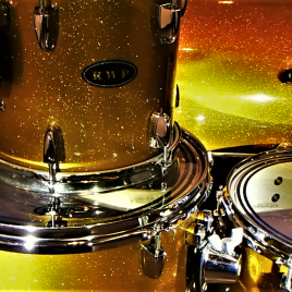 Traditional Gold Sparkle Drum Wrap