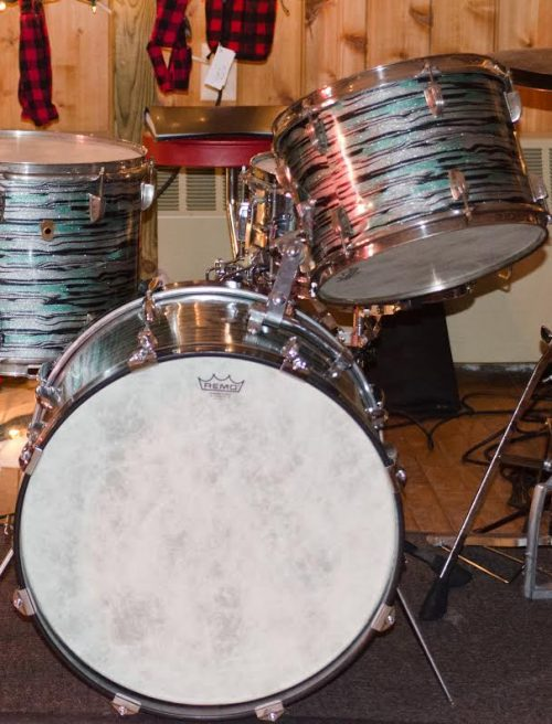 Mint Oyster Glitter Drum Wrap