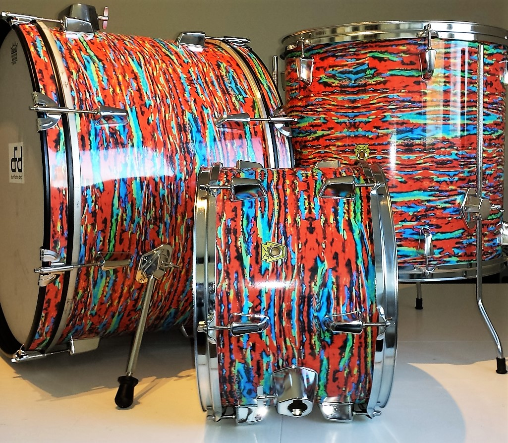 Psychedelic Red Drum Wrap Walopus Drum Wrap