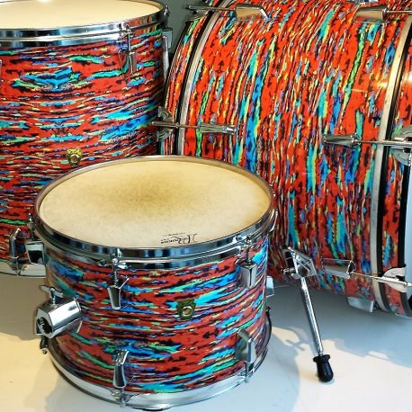 Psychedelic Red Drum Wrap