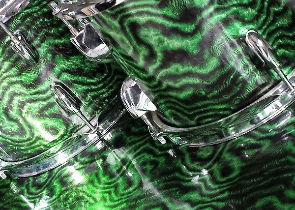 Toxic Waste Emerald Pearl Drum Wrap