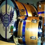 Glitter Inlay Drum Wrap