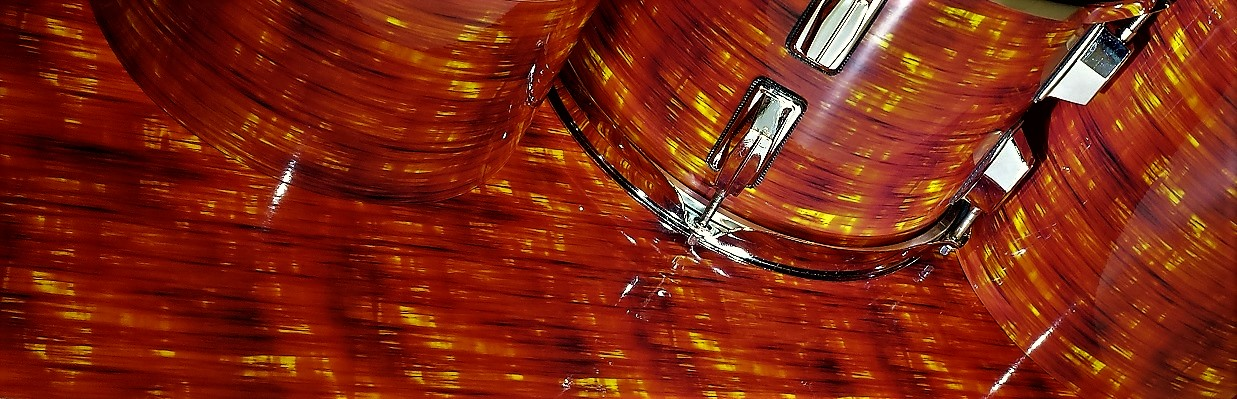 Tangerine Glass Strata Drum Wrap