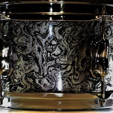Elastic Diamond Onyx Glitter Drum Wrap