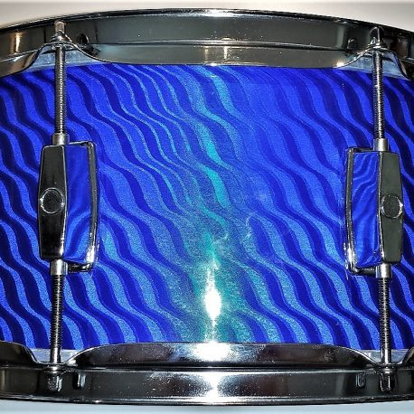 Twisted Blue Pearl Shimmer Drum Wrap