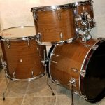American Oak Wood Grain Drum Wrap