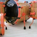 Golden Oak Wood Grain Drum Wrap
