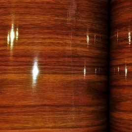 Mahogany Vortex Wood Grain Drum Wrap