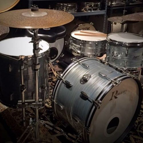 Rogers Grey Ripple Drum Wrap
