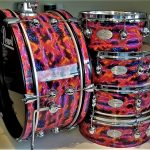 Galaxy Plasma Flame Drum Wrap